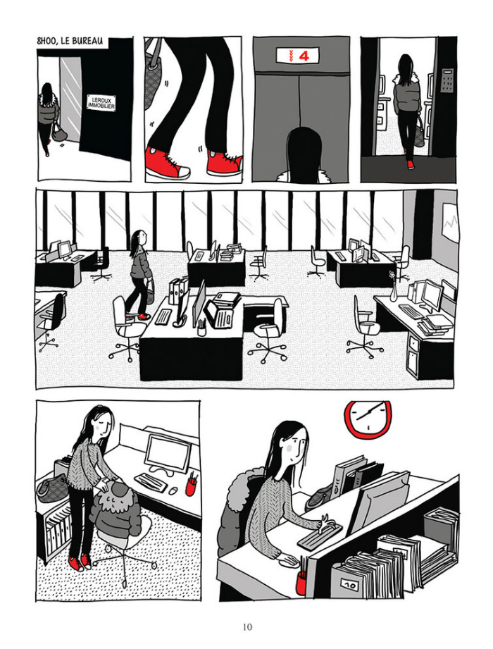 """A page from """"The Invisible Difference"""" (Delcourt), by Julie Dachez."""
