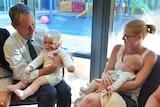 Bill Shorten visits a children's cancer ward at Townsville Hospital.