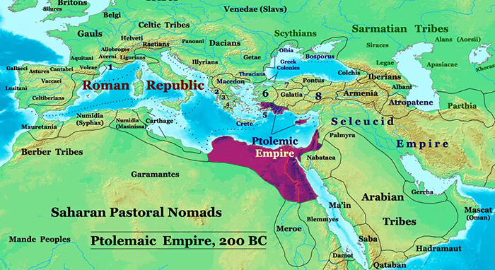 Map of Ptolemaic Dynasty