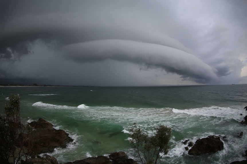 Storm clouds over Byron Bay