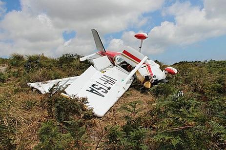 Damaged light plane
