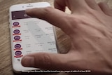 A video advertisement for CrownBet shows a man betting on AFL.