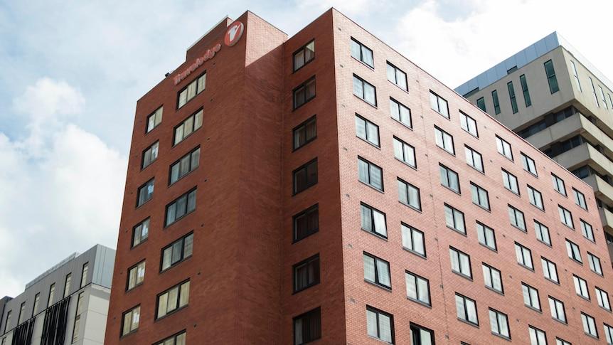 A brick building in the CBD.