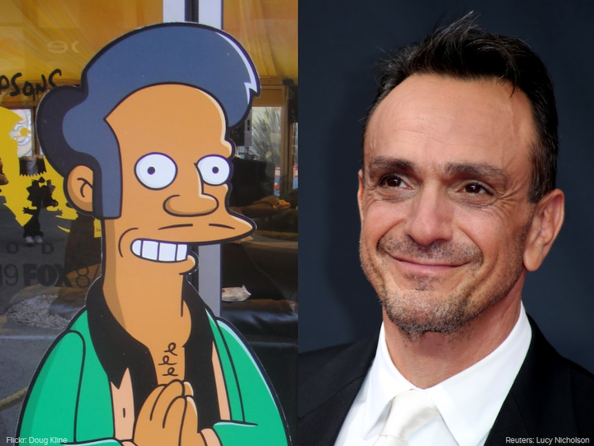The Simpsons character Apu, an Indian immigrant, is voiced by white actor Hank Azaria.