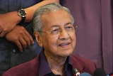 Malaysian Prime Minister Mahathir Mohamad speaks during a press conference.