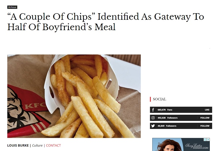 As news outlet Crikey reported, this story was actually a paid advertisement for KFC.