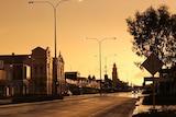 Kalgoorlie main street with rain