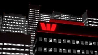 Westpac logo on an office tower