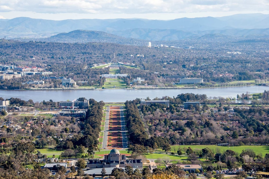View from Mt Ainslie
