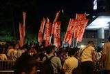 香港市民举行示威争取普选。
