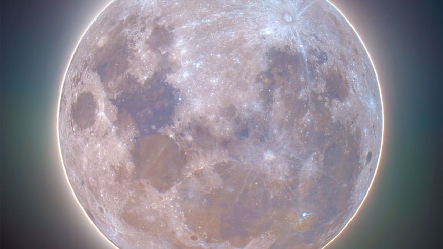 Close up of a supermoon
