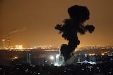 Israeli airstrike on Gaza City