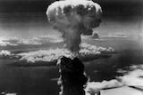 Nagasaki after the atomic bomb was dropped on it