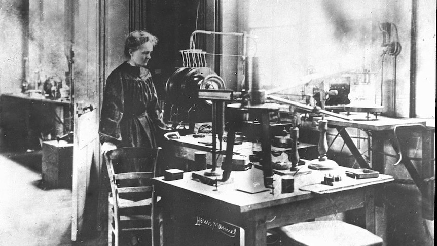 Play Audio. circa 1900, Marie Curie, (Polish born French Physicist) 1867-1934, pictured in her laboratory. Duration: 53 minutes 46 seconds