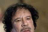 Libya's leader Moamar Gaddafi
