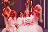 A scene from Muriel's Wedding the Musical of Muriel's wedding day
