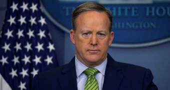 Sean Spicer briefs the press during his time as press secretary