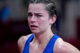 Aussie boxer Skye Nicolson was visibly emotional after her loss at the Olympics