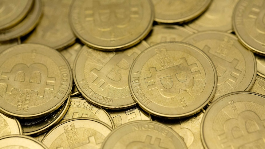 Generic pile of bitcoins