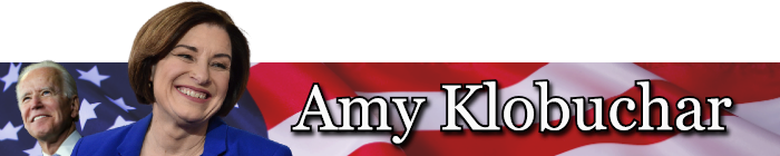 Amy Klobuchar VP banner