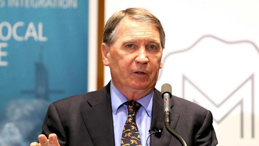 Secretary of Defence Dennis Richardson speaking at Parliament.