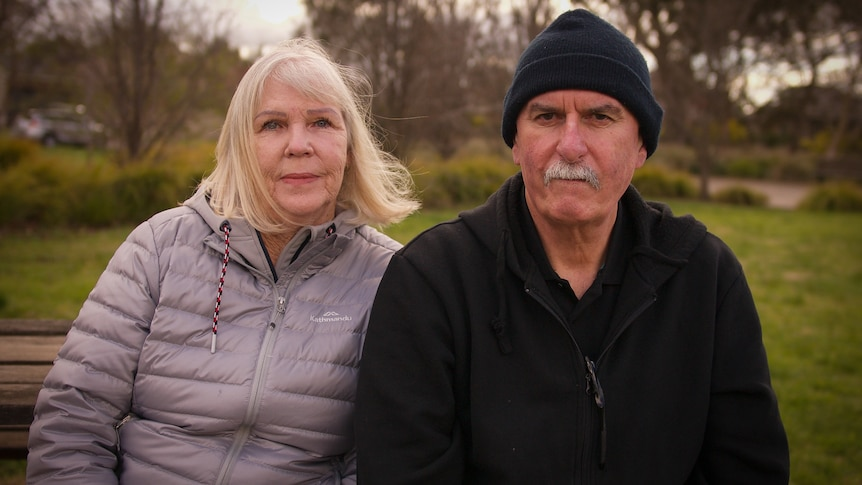 A middle-aged couple.