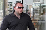 Brad Bowtell arrives at Newcastle Local Court