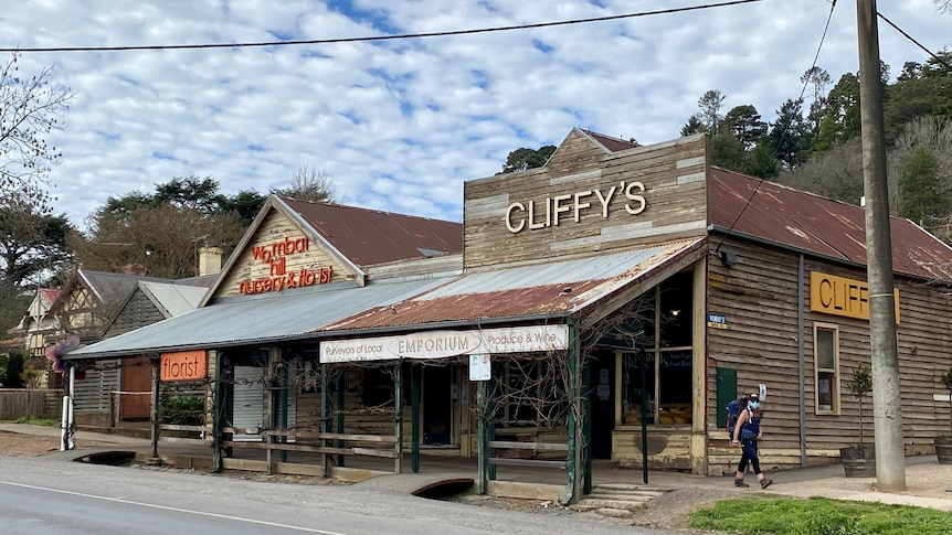 A view outside Cliffys Emporium in Daylesford.