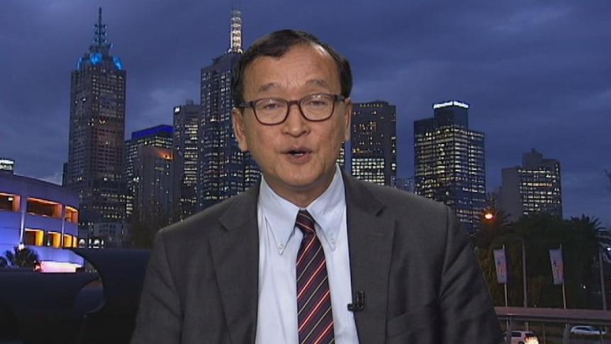Beverley O'Connor interviews Sam Rainsy in August
