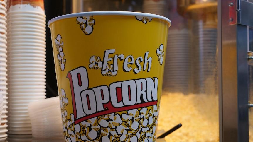 popcorn at the Silver City Cinema