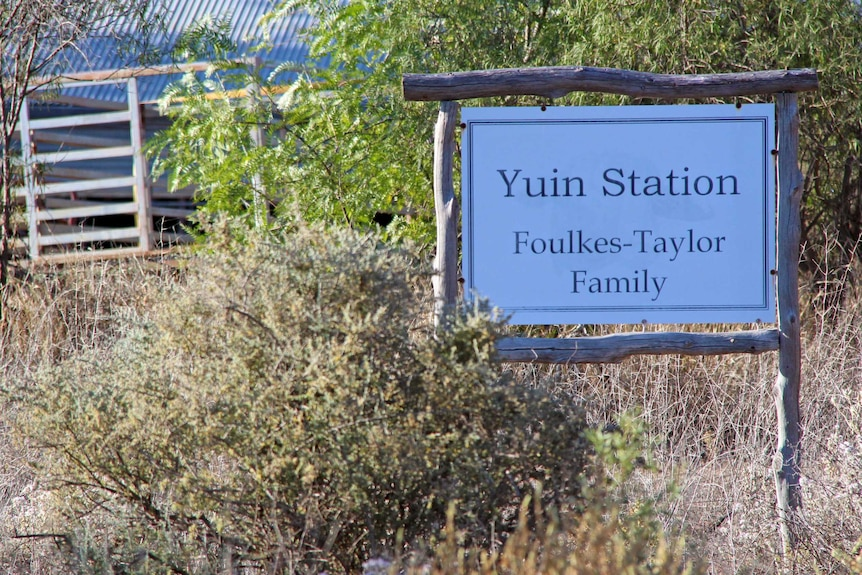 A sign for Yuin Station.