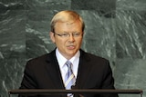 Australian Prime Minister Kevin Rudd addresses the United Nations General Assembly