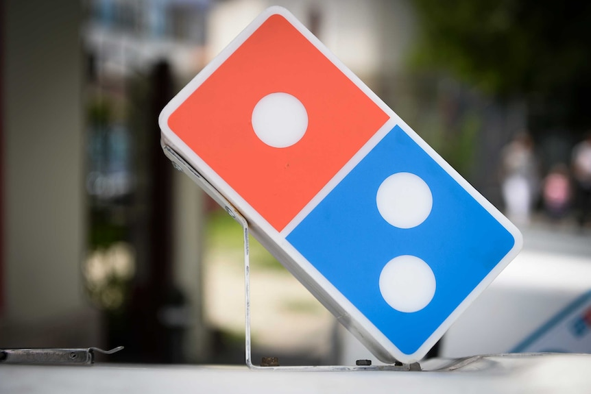 The pizza logo of a domino
