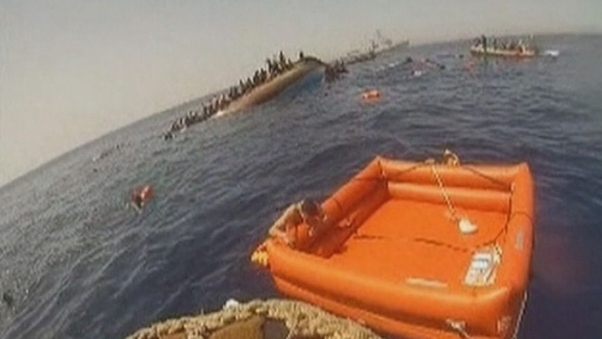 The navy was quick to respond to pull 562 people to safety