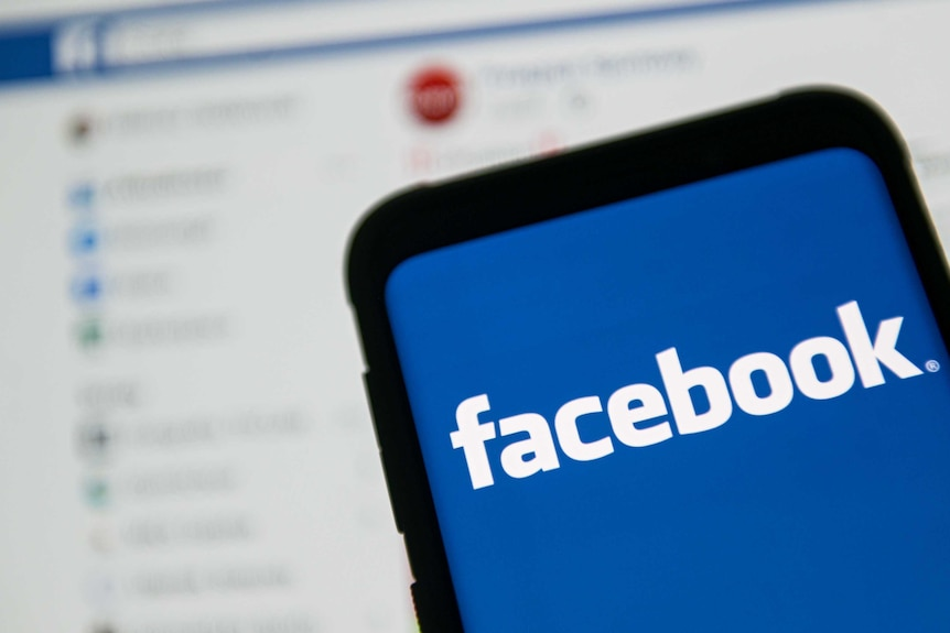A Facebook logo seen displayed on a smartphone