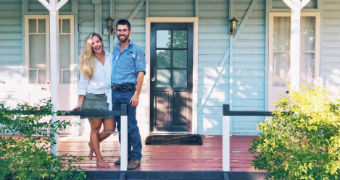 Sam Hart and Alina Rasmussen bought their first home in Blackall.