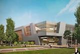 View of University of Tasmania Art School after Newnham campus move