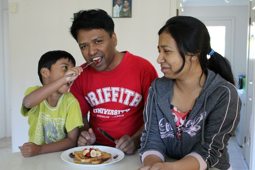 Tapan Sarker and children