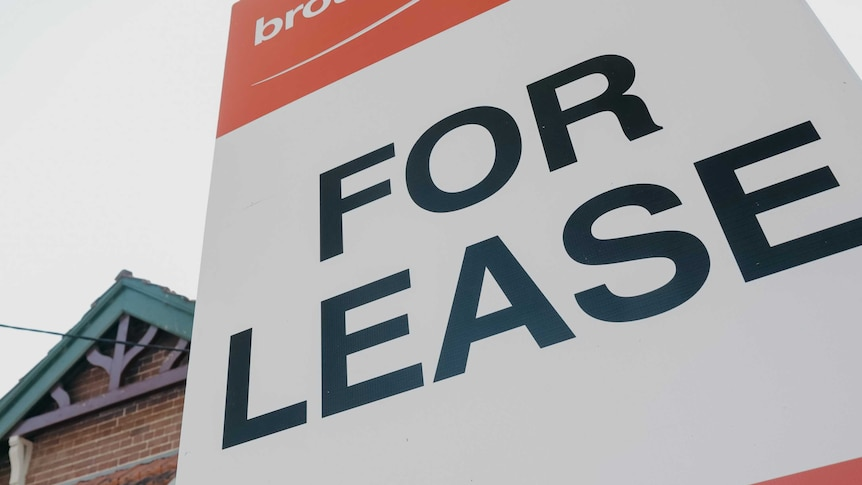 A for lease sign outside a federation era house.