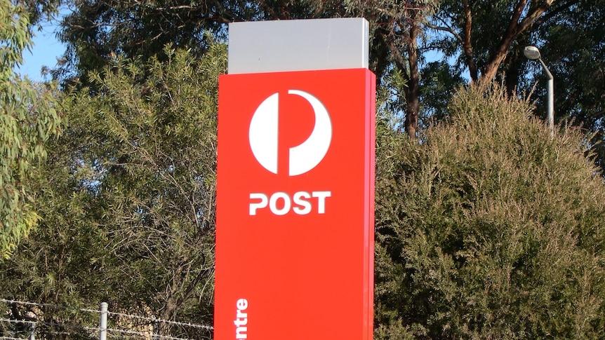 Australia Post generic sign at Fyshwick in Canberra's south, outside postal centre taken 20 June 2012