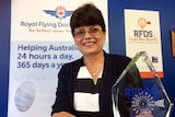 Tracy Forshaw with her RFDS award