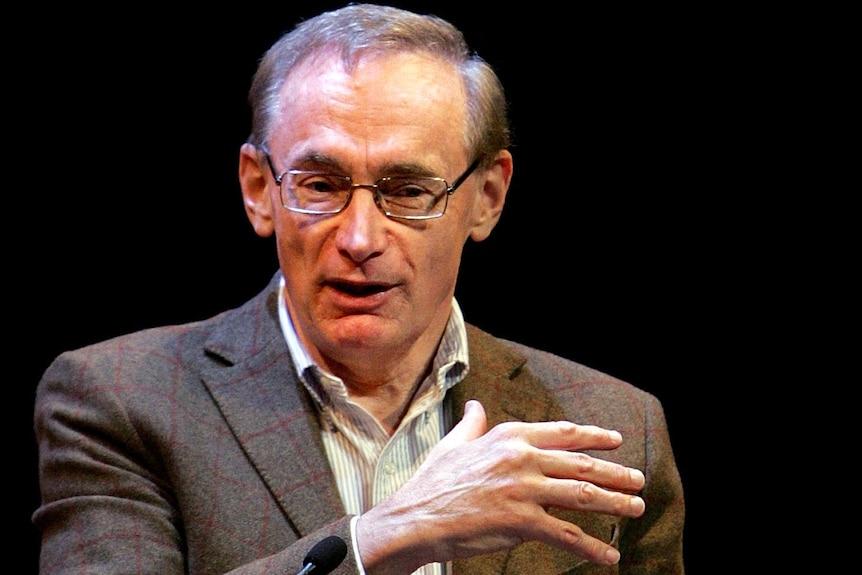 Bob Carr speaks during the Sydney Writers Festival.