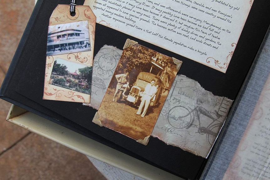 diary extracts and old photos