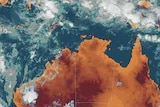 Satellite image of cyclones Bianca and Anthony