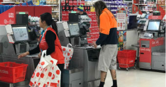 Coles says many customers are being left short a bag or two at the checkout.
