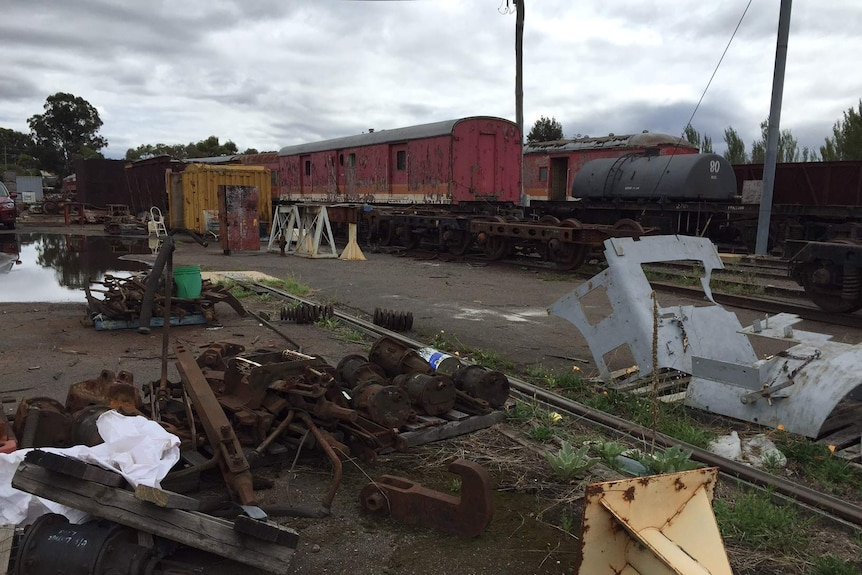 Carriages and stock at Canberra Railway Museum