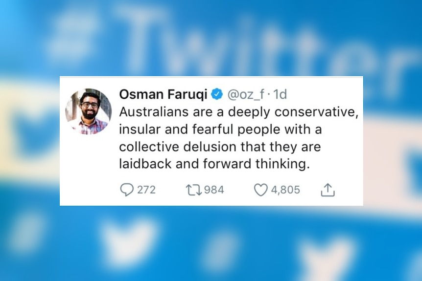 A screenshot of a tweet Osman Farqui sent about the debate over banning single-use plastic bags