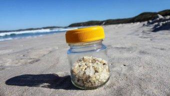 Durban nurdles in jar