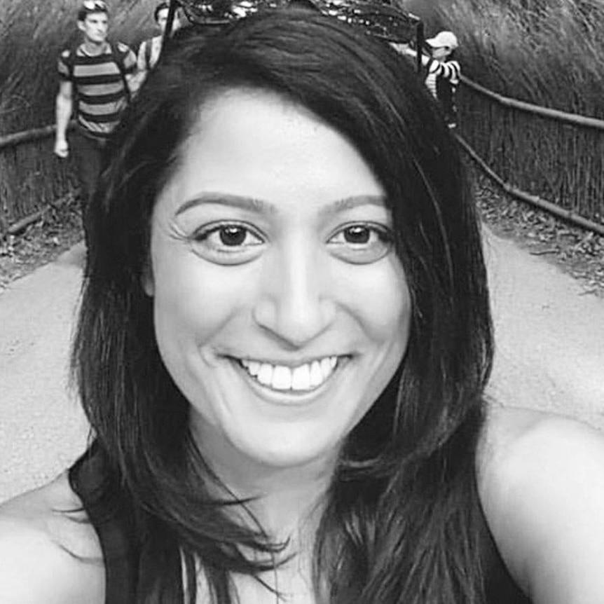 Bhavita Patel smiles in a selfie photo.