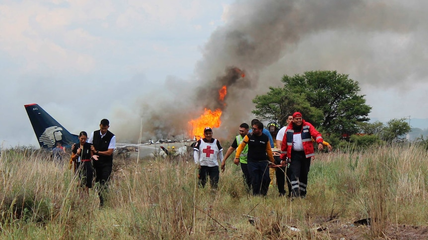 The plane crashed just after taking off en route for Mexico City (Photo: AP)